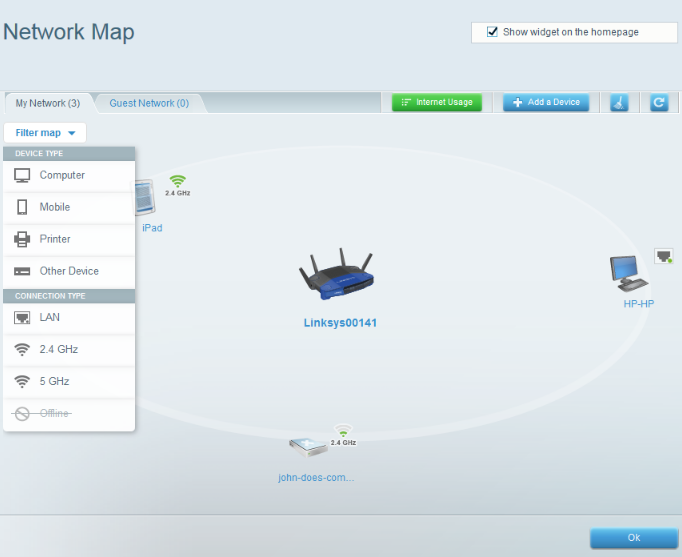 Linksys Official Support - Overview of the Network Map Tool on your