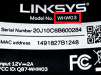 Linksys Official Support - How do I find my model and serial