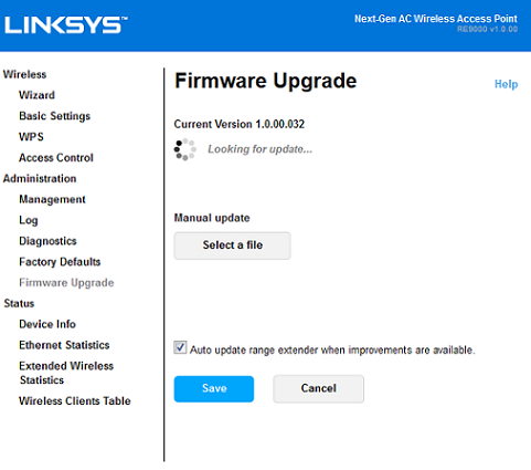 Linksys Official Support - Upgrading the Firmware of the